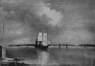 Bay and Harbor of New York from Bedlow's Island
