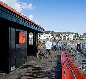 Beaumaris Pier - View from the 2011 refurbished pier head, towards the town of Beaumaris