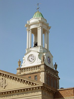 Bedford, Virginia - The cupola atop the Bedford County Court House was built in 1866.