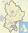 Bedfordshire outline map with UK.png