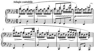 Period (music) - Image: Beethoven Piano Sonata in C Minor, Op. 13, second movement period