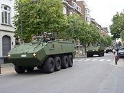 Belgique-2009 07 21-Fête nationale-Retour du défilé militaire-Avenue Chazal (04)