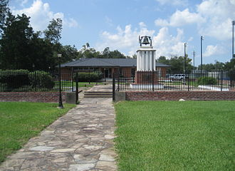 Belle Chasse, Louisiana - Bell from Benjamin's Belle Chasse Plantation at the Public Library