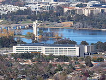 Ben Chifley Building viewed from Mount Ainslie June 2014.jpg