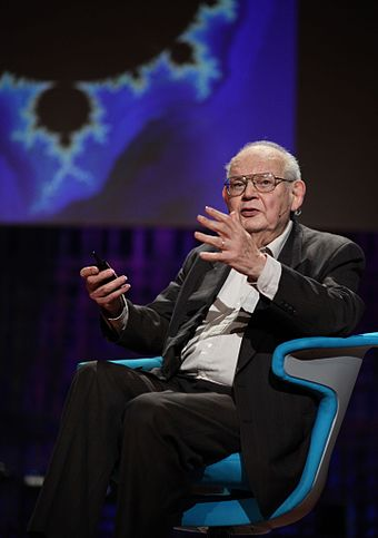 IBM Fellow Benoit Mandelbrot discusses fractal geometry, 2010. Benoit Mandelbrot, TED 2010.jpg