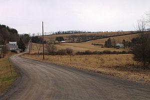 Benton Township, Columbia County, Pennsylvania - Benton Township in April