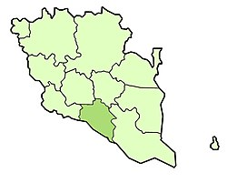 Location of Bera District in Pahang