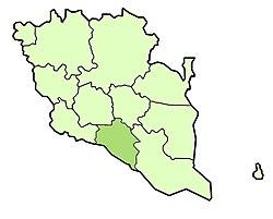Vị trí của Huyện Bera
