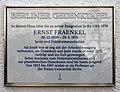 Berliner Gedenktafel Eschwegering 23 (Temph) Ernst Fraenkel.jpg