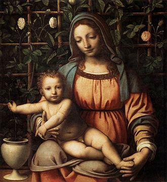 Bernardino Luini - Madonna del Roseto  (Pinacoteca di Brera).
