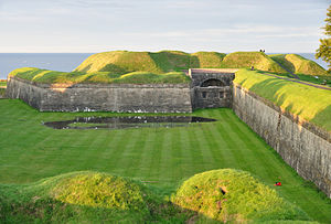 Berwick town walls - Part of the Elizabethan ramparts