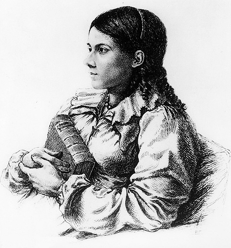Bettina von Arnim as drawn by Ludwig Emil Grimm during the first decade of the 19th century