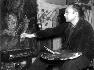 Isaac Stern - Bezalel Schatz painting a portrait of Isaac Stern