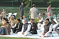 Bhairon Singh Shekhawat and the Prime Minister, Dr. Manmohan Singh attend a prayer meeting on the occasion of 89th birth anniversary of the Late Prime Minister, Smt. Indira Gandhi, at Shakti Sthal, in Delhi.jpg