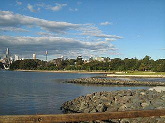 Glebe Point - Image: Bicentennial Park and Glebe Point NSW