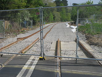 Electric Spine - Track doubling on the Oxford to Bicester Line in 2014.