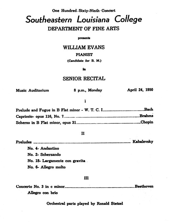 FileBill Evans Graduation ConcertJpg  Wikimedia Commons