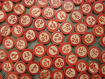 Some old bingo numbers from my studio.