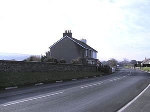 Birkin's Bend - Birkin's Bend on the A3 Castletown to Ramsey Road looking towards Rhencullen (1)  and Kirk Michael Village.