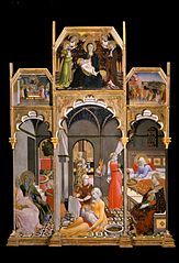 Birth of the Virgin with other scenes from her life