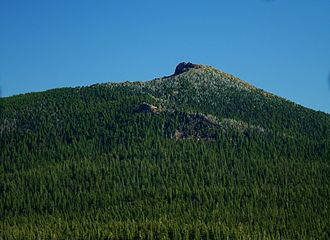 Black Crater - The mountain seen from the Dee Wright Observatory