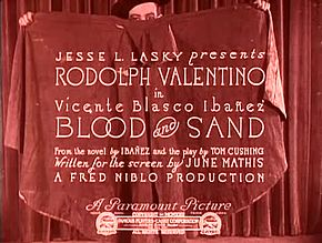 Fichier:Blood and Sand (1922).webm