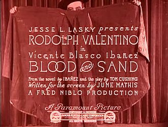Файл:Blood and Sand (1922).webm
