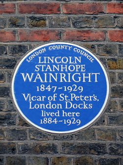 Blue plaque   lincoln wainwright