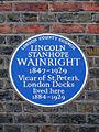 Blue Plaque - Lincoln Wainwright.JPG