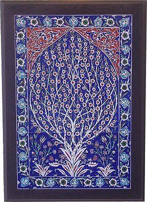 Blue Turkish Tiles in Frame