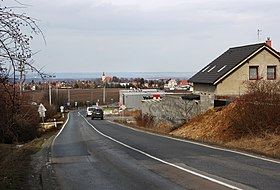 Bořanovice, road to Líbeznice.jpg