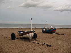Boats on the beach at Marske - geograph.org.uk - 669933.jpg