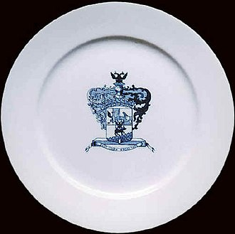 Bobrinsky - An English plate with the Bobrinsky coat of arms.