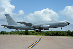 6th Air Mobility Wing - 6th Air Mobility Wing KC-135R Stratotanker, AF Ser. No. 61-0305, takes off from MacDill Air Force Base, 29 May 2013