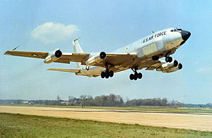 801st Air Division - Boeing RC-135C taking off