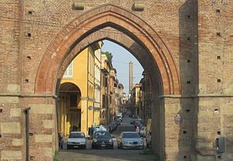 Bologna - Porta Maggiore, one of the twelve medieval city gates of Bologna.