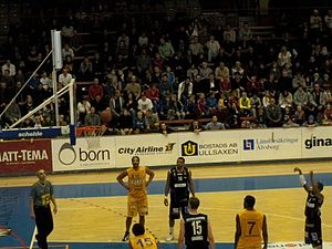 Boråshallen - Borås Basket playing a match in hall A
