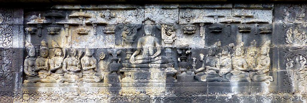 Buddhas with Umbrellas, Borobudur
