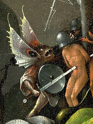 Bosch, Hieronymus - The Garden of Earthly Delights, right panel - Detail Butterfly monster (mid-right).jpg