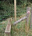 Boundary stile and sign - geograph.org.uk - 644515.jpg