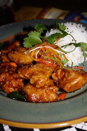 Bourbon chicken - Image: Bourbon chicken 01