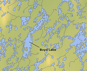 Boyd Lake (Northwest Territories) - Map