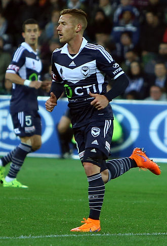 Oliver Bozanic - Bozanic playing for Melbourne Victory in the FFA Cup, September 2015