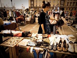 Flea market - Flea market in Hietalahdentori, Helsinki, Finland