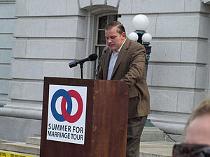 National Organization for Marriage - Brian S. Brown at the Summer For Marriage Tour