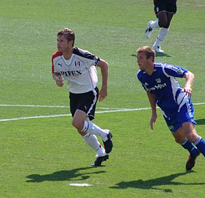 Brian McBride - McBride playing for Fulham in 2005