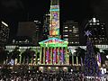 Brisbane City Hall During Christmas light show in 2016, 06.jpg