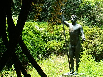 Archer Milton Huntington - The Huntingtons' Brookgreen Gardens, the setting with sculpture 'Athlete' by Rudulph Evans (1915).