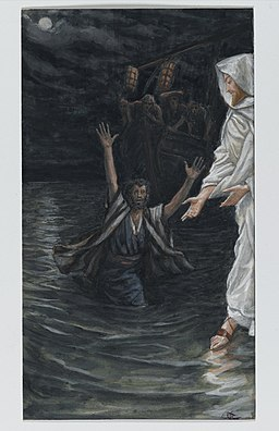 Brooklyn Museum - Saint Peter Walks on the Sea (Saint Pierre marche sur la mer) - James Tissot - overall