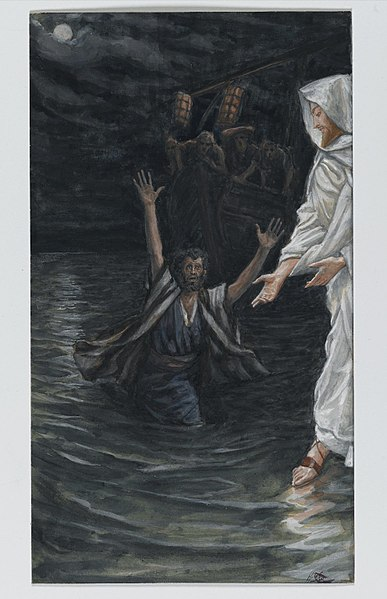File:Brooklyn Museum - Saint Peter Walks on the Sea (Saint Pierre marche sur la mer) - James Tissot - overall.jpg